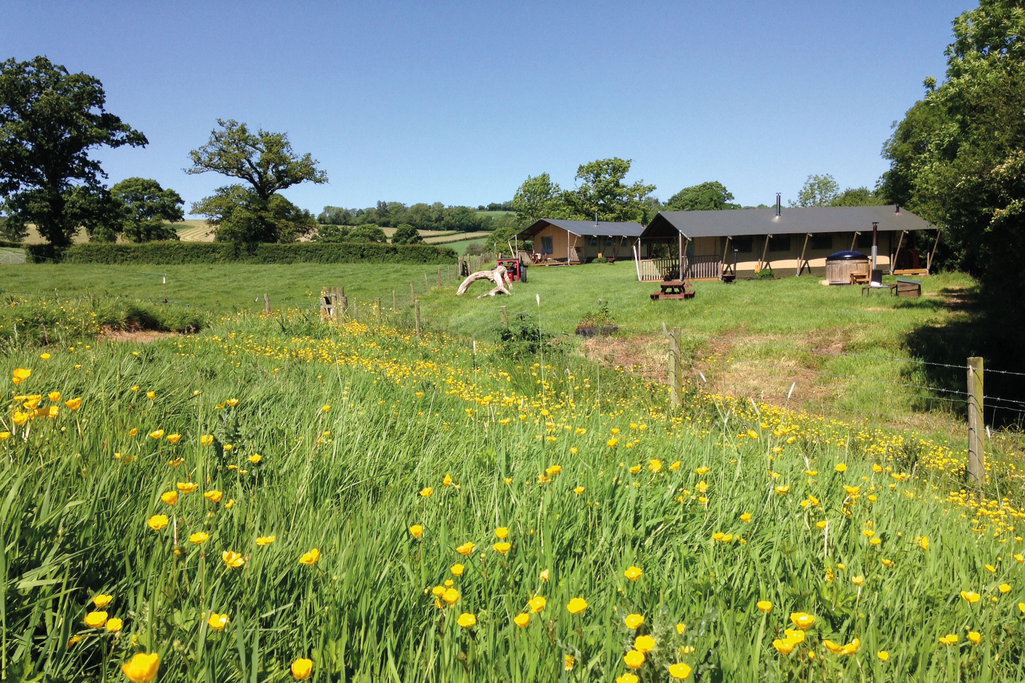 Glamping Farming Holidays In Devon Aller Farm Safari Tents